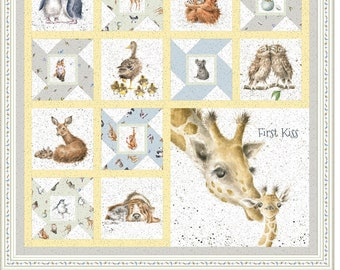 Love Is First Kiss Fabric Quilt Kit Maywood Studios KIT-MASFIK