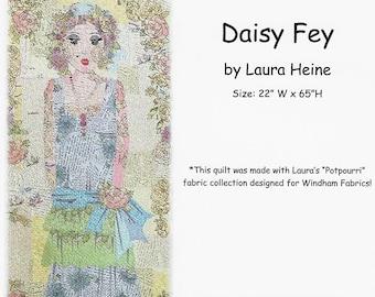 Daisy Fey Collage Quilt Pattern by Laura Heine for Fiberworks FBWDAISYFEY
