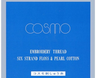 Cosmo // Lecien Corp. Embroidery Floss Color Card CC/LEN-COS