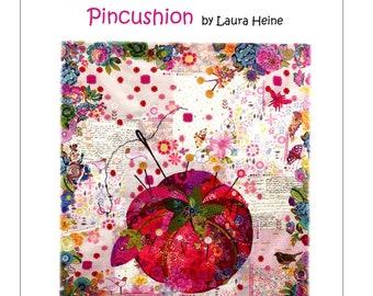 Pincushion Collage Quilt Pattern by Laura Heine for Fiberworks LHFWPINCUS30