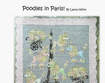 Poodles in Paris Collage Quilt Pattern by Laura Heine for Fiberworks FBWPOODLESINPARIS