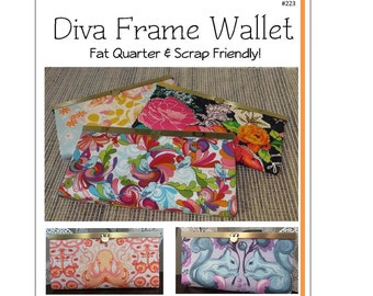 Diva Frame Wallet Pattern by Sew Many Creations #223