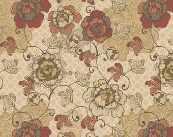 1/2 yd Stella Floral by David Textiles Fabrics DATRR-3027-4C-1