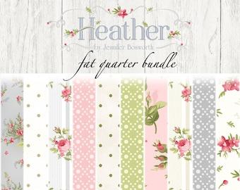 Heather Fat Quarter Bundle by Jennifer Bosworth for Maywood Studio Fabric FQ-MASHEA-C