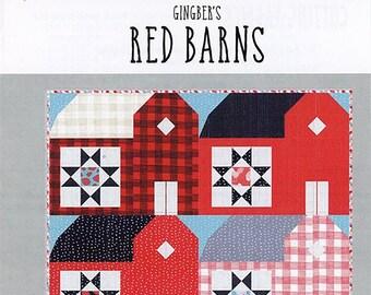 Farm Fresh Red Barn Quilt Pattern by Gingiber for Moda Fabrics GB 020