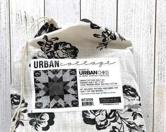 Urban Cottage Fabric Quilt Kit by Urban Chiks for Moda Precuts KIT31130