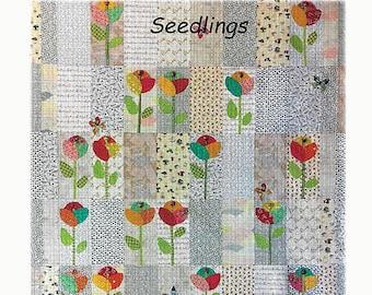 Seedlings Applique Quilt Pattern by Laura Heine for Fiberworks LHFWSEED