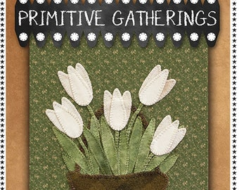 Spring Welcome Banner Wool/Cotton Kit & Pattern by Primitive Gatherings PRI 669