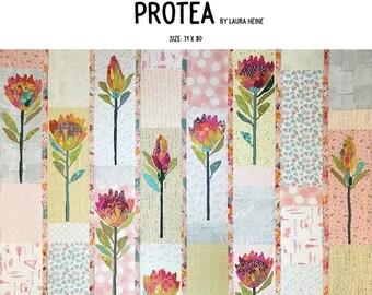 Protea Fused Appliqué Quilt Pattern by Laura Heine for Fiberworks LHFWPROTEA