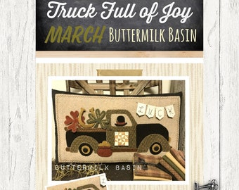 Buttermilk Basin Trucks Full of Joy Pillow - March Kit & Pattern
