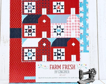 Farm Fresh Quilt Kit Featuring Farm Fresh by Gingiber for Moda Fabrics KIT48260