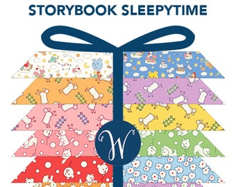 Storybook Sleepytime Fat Quarter Bundle by Whistler Studios for Whistler Studios Fabrics STORSLEEFQ