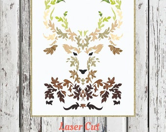 The Stag Earth Laser Cut Quilt Kit by Madi Hastings for Laser Quilts