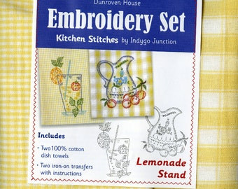 Kitchen Towel Embroidery Set Lemonade Stand by Amy Barickman for Dunroven House 200-112