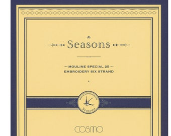 Cosmo // Lecien Corp. Seasons Embroidery Floss Color Card CC/LEN-SEA