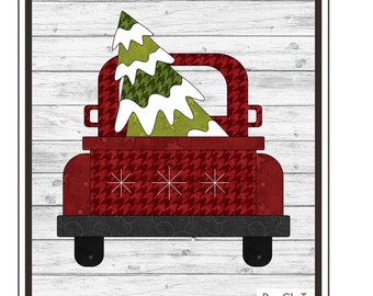 Christmas Truck Precut Pre Fused Appliqué Pack // The Whole Country Caboodle PRECHRTR