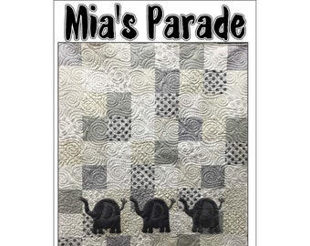 Mia's Parade Elephant Pattern by The Sugar Pine Company SPC QP248