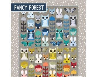 Fancy Forest Animal Sampler Quilt Pattern by Elizabeth Hartman EH023