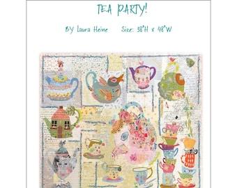 Tea Party Sampler Quilt Pattern BOM by Laura Heine for Fiberworks FBWTEA