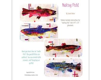 Making Fish Collage Quilt Pattern by Laura Heine for Fiberworks FBWMF