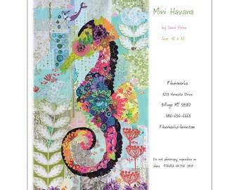 Mini Havana Seahorse Collage Quilt Pattern by Laura Heine for Fiberworks FBWMH