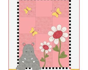 Hannah the Hippo Quilt Kit by Deb Grogan for Maywood Studio KIT-MASHAH