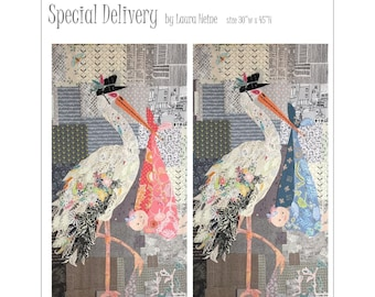 Special Delivery Collage Quilt Pattern by Laura Heine for Fiberworks FBWSD