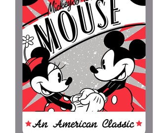Mickey & Minnie An American Classic Disney Panel by Springs Creative Fabrics SPR65926-A620715