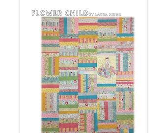 Flower Child Quilt Pattern by Laura Heine for Fiberworks FBWFC