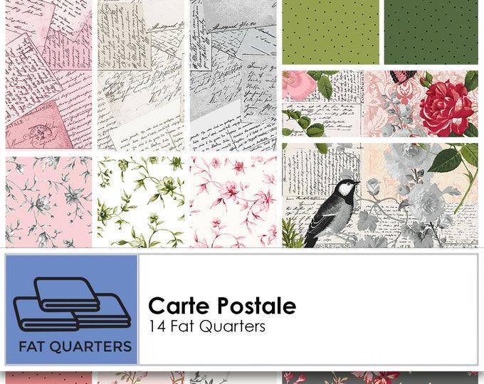FREE Shipping Carte Postale Fat Quarter Bundle by Skipping Stones Studio for Clothworks CLTFQ0147