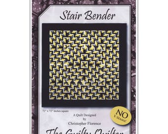 Stair Bender Quilt Pattern - The Guilty Quilter GQU03