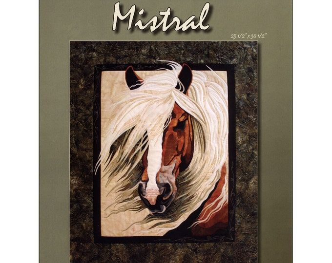Mistral Horse Quilt/Wallhanging Pattern by Toni Whitney TWDM011