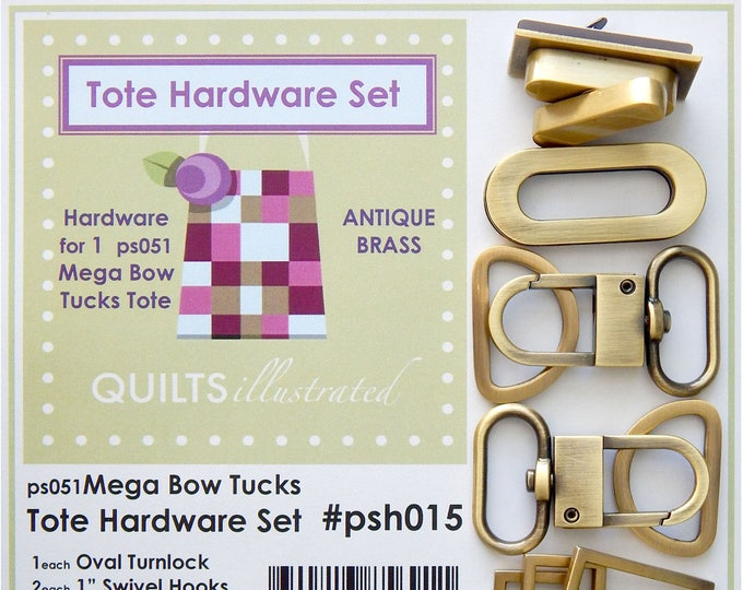 5 Piece Tote Hardware Set by Quilts Illustrated PSH015 PSH017 PSH019