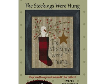 The Stockings Were Hung Appliqué Pattern by All Through The Night//Bonnie Sullivan ATN1714