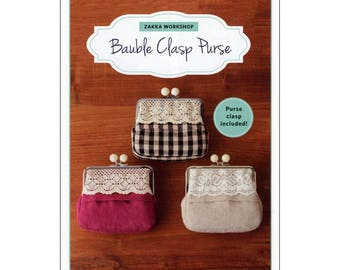 Zakka Workshop Bauble Clasp Purse Pattern & Frame ZW2279