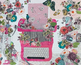 EXCLUSIVE Just My Type Collage Fabric Kit with Pattern // Certified Laura Heine Instructor