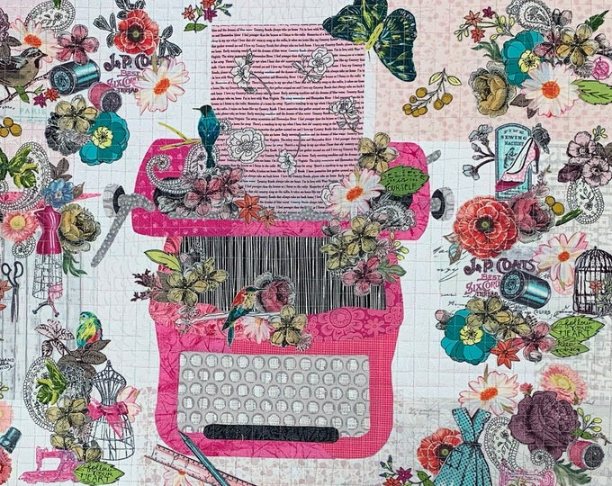 Featured listing image: EXCLUSIVE Just My Type Collage Fabric Kit with Pattern // Certified Laura Heine Instructor
