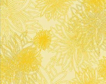 1/2 yd Floral Elements Custard Basic by Art Gallery Fabrics FE 520
