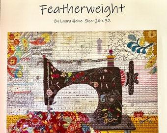 Featherweight Collage Quilt Pattern by Laura Heine for Fiberworks FBWFEATHER