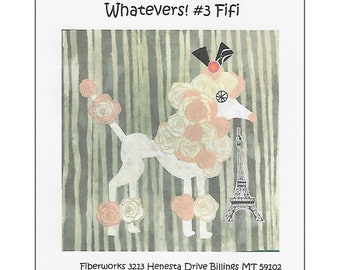 Whatevers Collage Pattern #3 FiFi by Laura Heine for Fiberworks FBWWHAT3