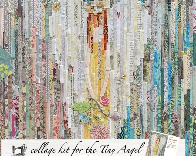 Featured listing image: Teeny Tiny Angel Fabric Collage Quilt Kit for Laura Heine's Collage Pattern LHFWGUARD