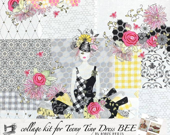 Featured listing image: Collage Quilt Kit Teeny Tiny Dress #1 for Laura Heine's Collage Pattern FBWTT1 // Certified Laura Heine Instructor