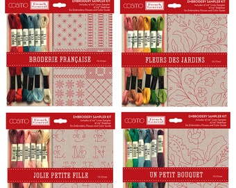 French General Embroidery Sampler Kits FG CF00 Moda Linen