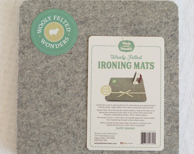 """8.5"""" Wooly Felted Wonders Wool Ironing Mat Pressing Station 8 1/2"""" x 8 1/2"""""""