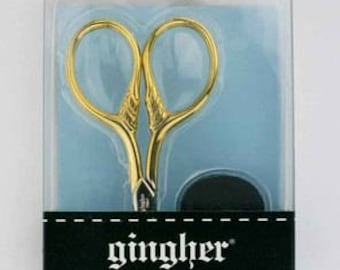 Gingher 3 1/2in Goldhandle Lion's Tail Embroidery Scissors 01-005870