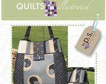 Mega Bow Tucks Tote Pattern by Penny Sturges for Quilts Illustrated PS051