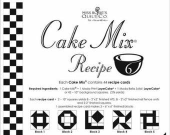 Moda Cake Mix Recipe by Miss Rosie's Quilt Co Design #6