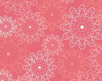 1/2 yd Essentials Coral Sparkles by Pat Bravo for Art Gallery Fabrics ESS-2401