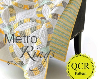 Metro Rings Pattern by Sew Kind of Wonderful Contemporary Quilt Designs #402