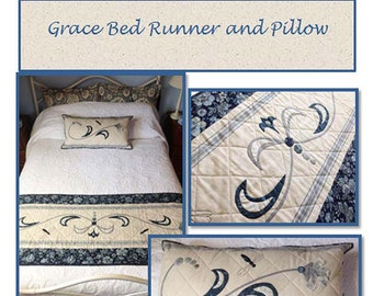 Grace Bed Runner And Pillow by Pieces to Treasure Made with Moda Toweling PTT 114
